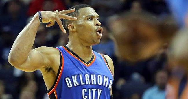 Westbrook'un 40 sayısı Thunder'a yetmedi