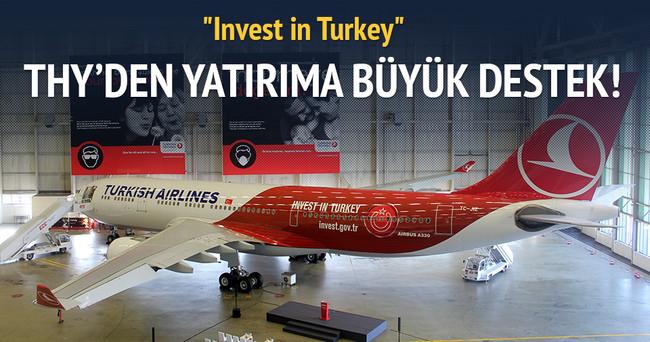 THY Invest in Turkey logolu uçağını tanıttı