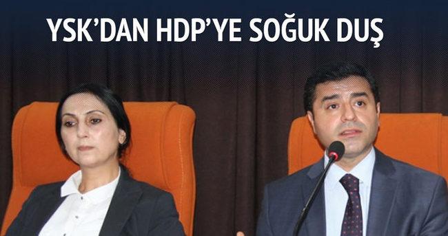 YSK'dan HDP'ye soğuk duş