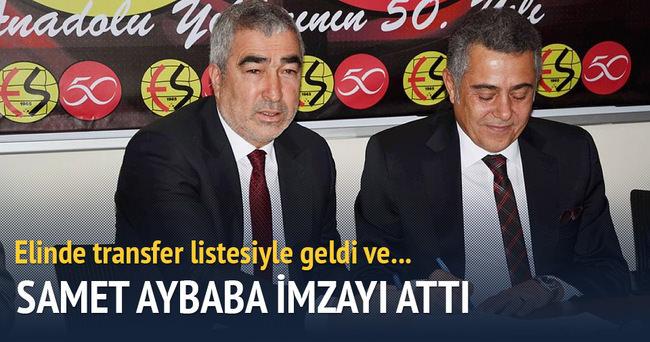 SAMET AYBABA, ESKİŞEHİRSPOR'A İMZAYI ATTI