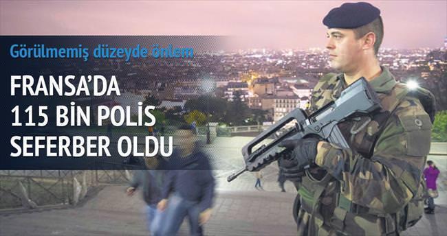 115 bin polis seferber oldu