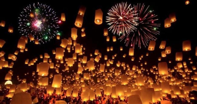 Tayland ışık festivaline hazırlanıyor