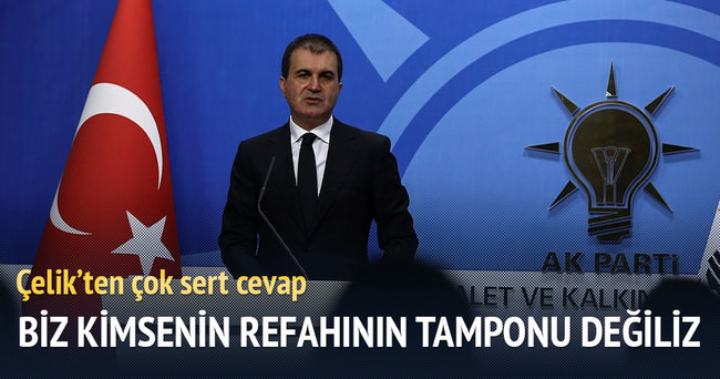 Ömer Çelik: Türkiye tampon bölge değil