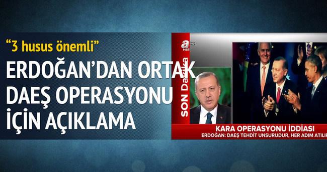Cumhurbaşkanı Erdoğan: DAEŞ ülkemiz için bir tehdittir