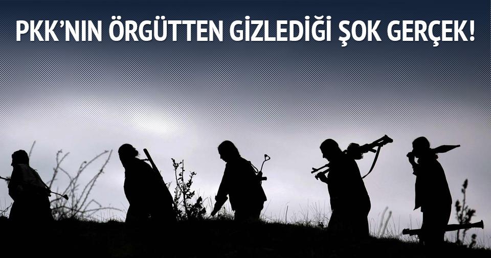 PKK bunu örgütten gizliyor!