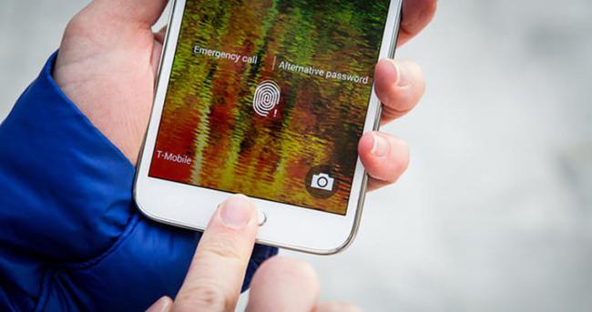 Samsung'tan parmak izi okuyucu