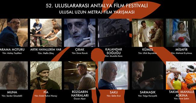 52.Uluslararası Antalya Film Festivali'nde yarışacak filmlerin fragmanı