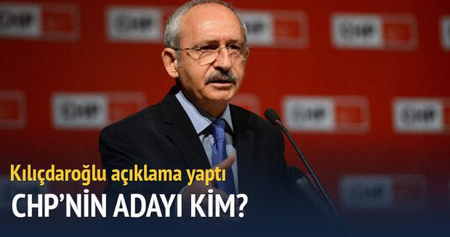 Kılıçdaroğlu'ndan aday açıklaması