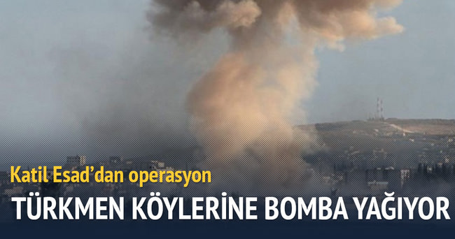 Türkmen köylerine ağır bombardıman
