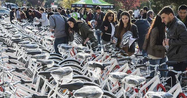 'Aktif Kampüs Projesi' kapsamında 160 bisiklet dağıtıldı
