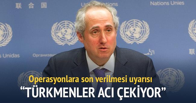 Türkmenler acı çekiyor