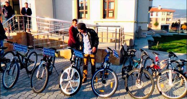 Bisiklet hırsızlarına darbe