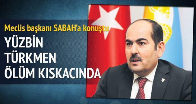 100 bin Türkmen ölüm kıskacında