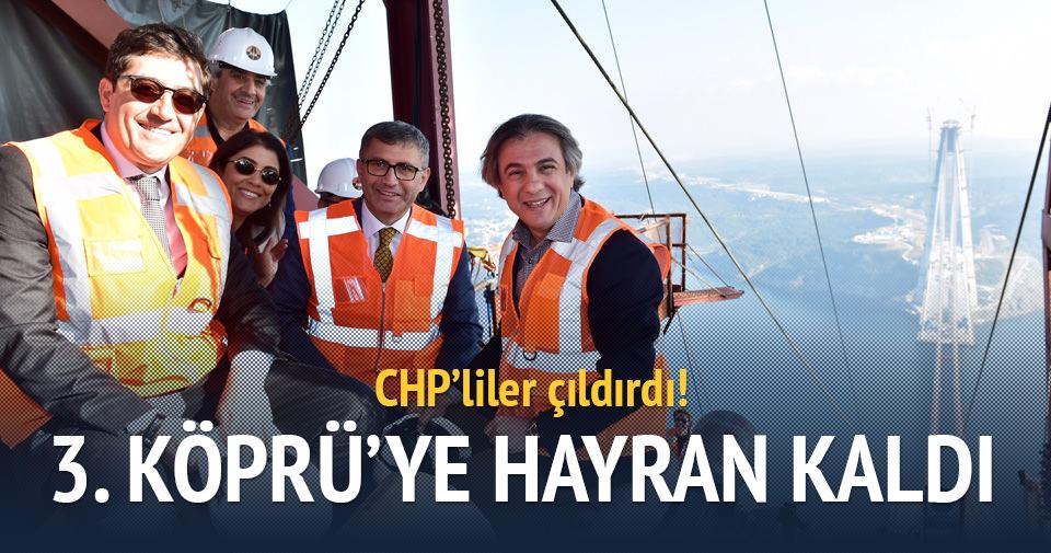 CHP'li başkan 3. Köprü'ye övgüler yağdırdı, CHP'liler çıldırdı