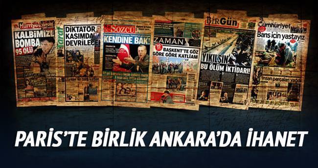 PARİS'TE BİRLİK ANKARA'DA İHANET