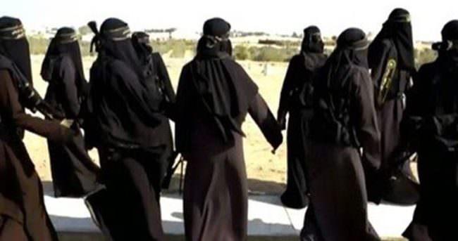 IŞİD'li kadınlara baskın!