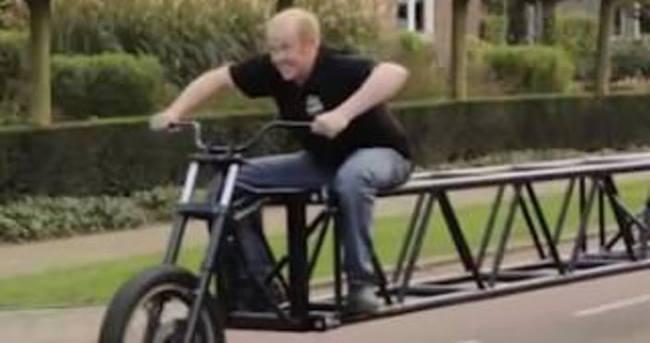 Dünyanın en uzun bisikleti üretildi