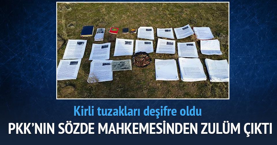 PKK'nın sözde 'mahkemesi'nden 'zulüm' çıktı