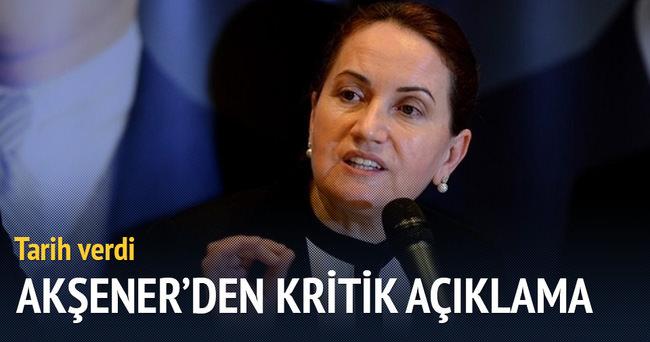 Meral Akşener, kritik açıklama!