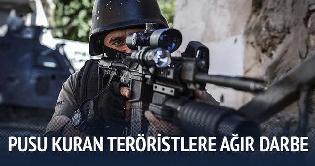 Pusu hazırlığındaki PKK'lılara ağır darbe
