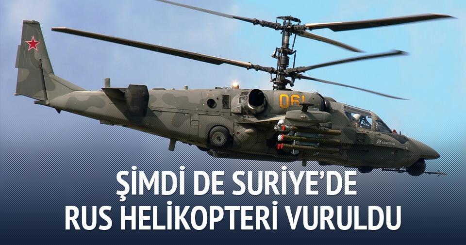 Şimdi de Suriye'de Rus helikopteri vuruldu