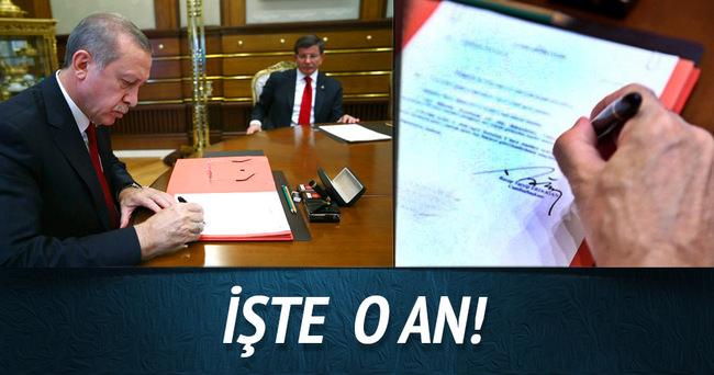 Cumhurbaşkanı Erdoğan'ın kabineyi onayladığı an