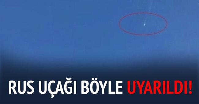 Türk jetleri Rus uçağını böyle uyardı
