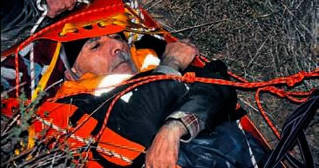 Yamaçtan düşen kişi kurtarıldı