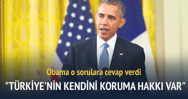 Türkiye'nin kendini koruma hakkı var