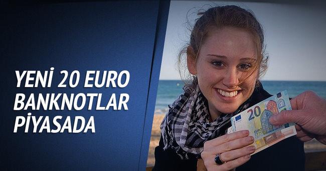Yeni 20 Euro banknotlar piyasada
