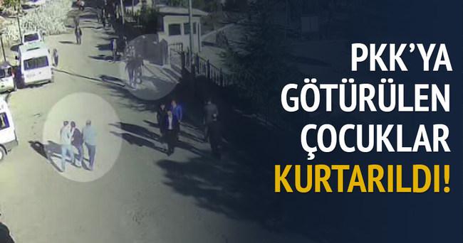PKK'ya götürülen çocuklar kurtarıldı!