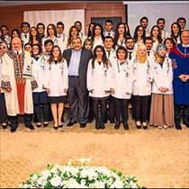 SANKO ğrencileri beyaz önlük giydi