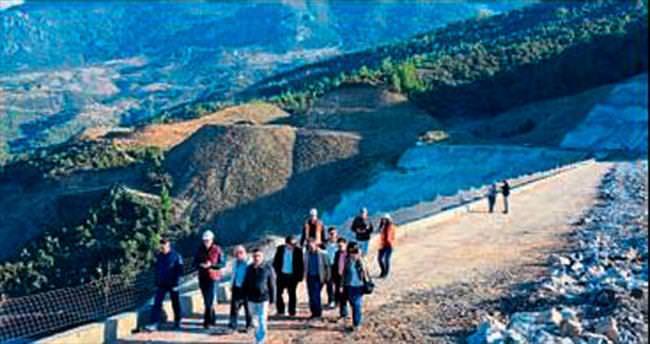 Gökçeler Barajı'nda dolgu tamamlandı