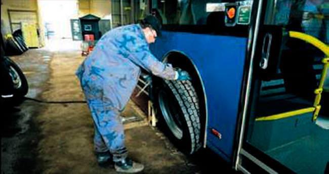EGO otobüsleri kışa hazır hale geldi