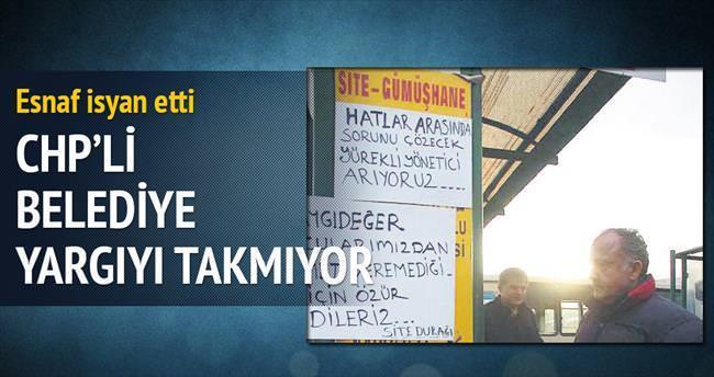 CHP'li belediye yargıyı takmıyor