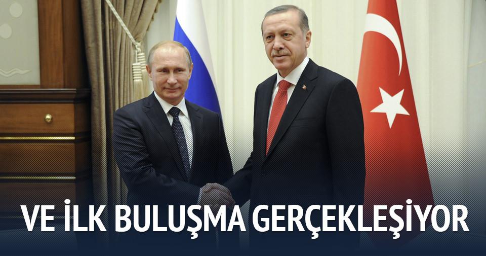 Erdoğan ve Putin arasında ilk buluşma Paris'te