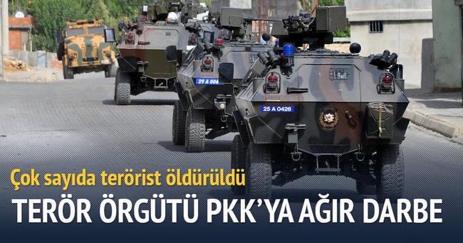 Terör örgütü PKK'ya ağır darbe