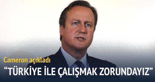 Cameron: Türkiye ile daha fazla çalışmak zorundayız