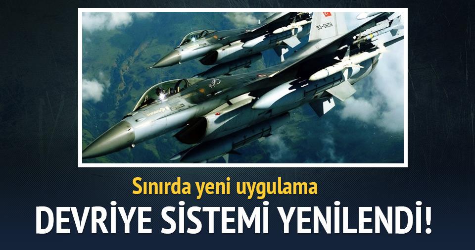 Sınırda F-16'ların devriye sistemi değiştirildi