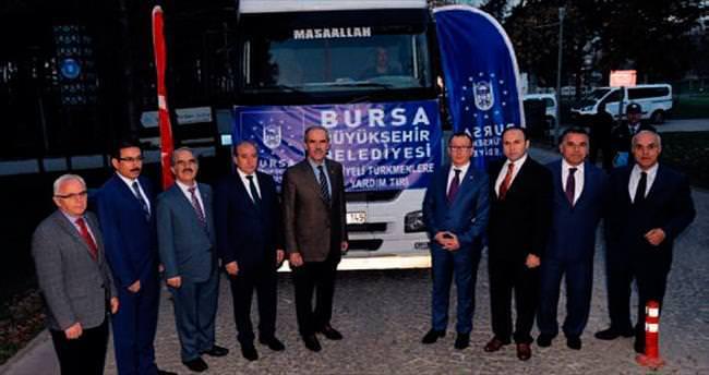 Türkmenlere soba yardımı