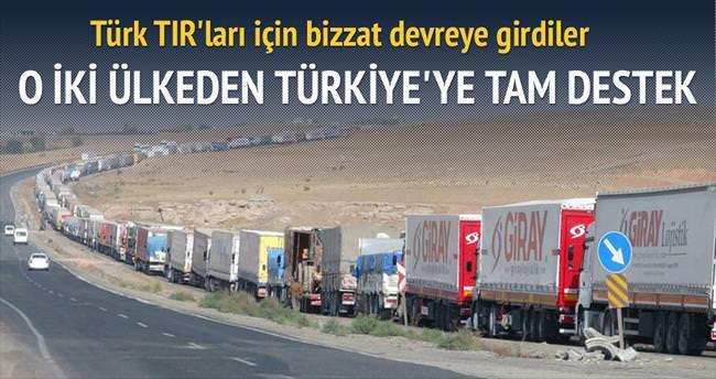 Türk TIR'larına Aliyev'den Hazar desteği