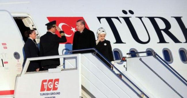 Cumhurbaşkanı Erdoğan, Fransa'ya gitti