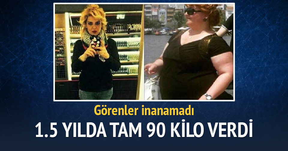 1,5 yılda 90 kilo vererek 66 kiloya indi
