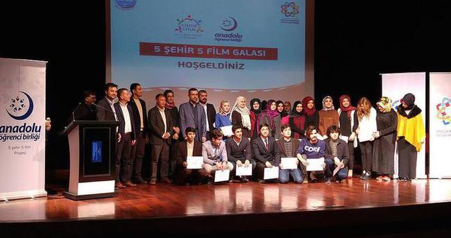 '5 Şehir 5 Film Projesi'nin galası yapıldı