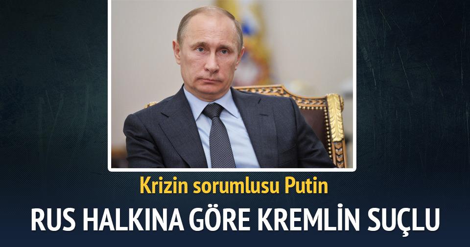 Rus halkına göre Kremlin suçlu