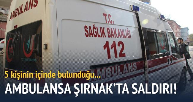 Hasta taşıyan ambulansa saldırı