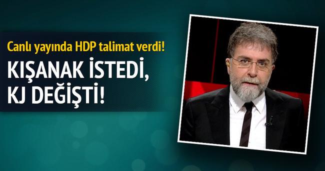 HDP talimat verdi Ahmet Hakan değiştirdi!