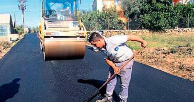 Çile yoluna sıcak asfalt