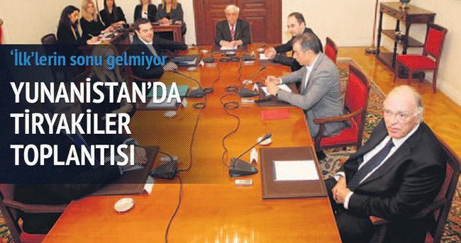 Yunanistan'da tiryakiler toplantısı