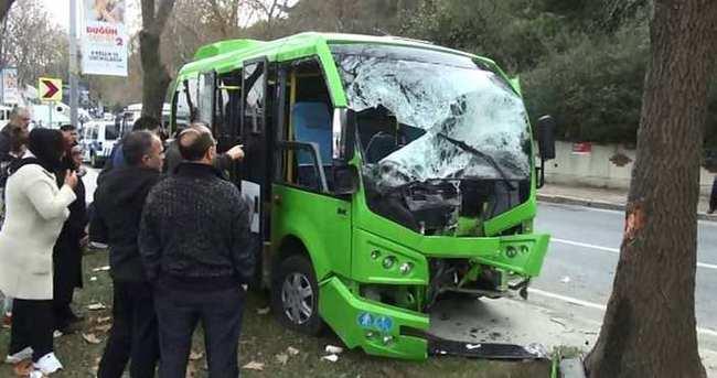 Sarıyer'de minibüs kazası: 5 yaralı